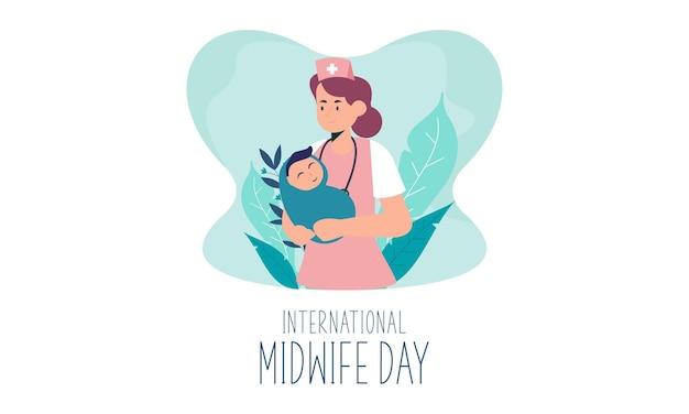Płaski międzynarodowy dzień położnych