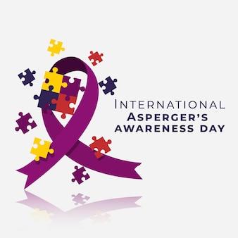 Płaski międzynarodowy dzień świadomości aspergera