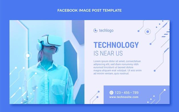 Płaski minimalistyczny szablon postu w mediach społecznościowych