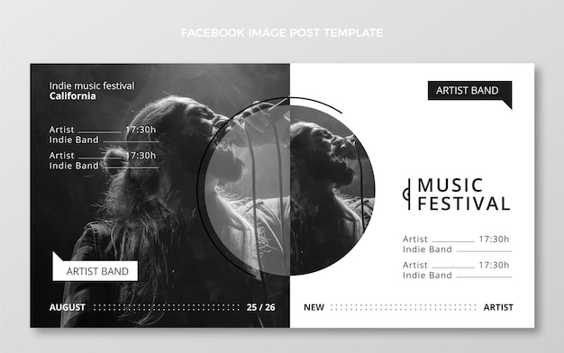Płaski minimalny festiwal muzyczny na facebooku