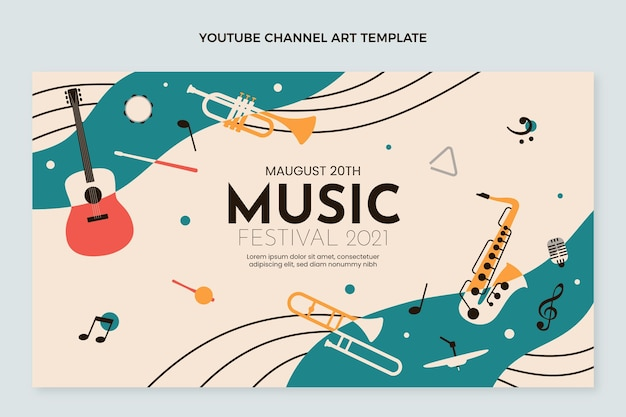 Płaski minimalny kanał muzyczny na youtube