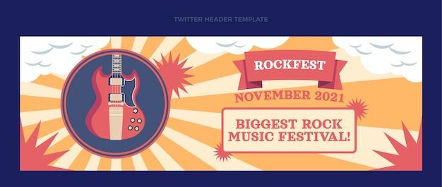 Płaski minimalny nagłówek festiwalu muzycznego na twitterze