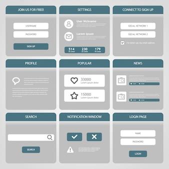 Płaski mobilny interfejs użytkownika