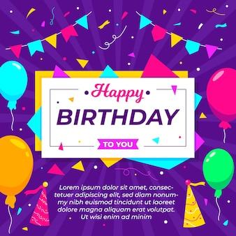 Płaski na tło urodziny