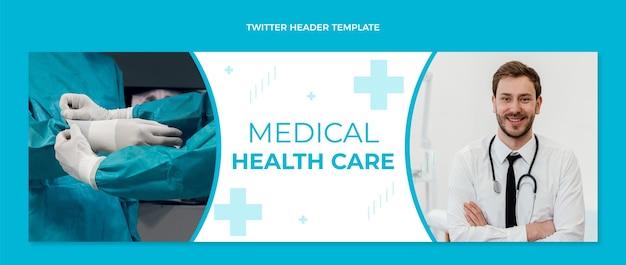 Płaski nagłówek twittera medycznego