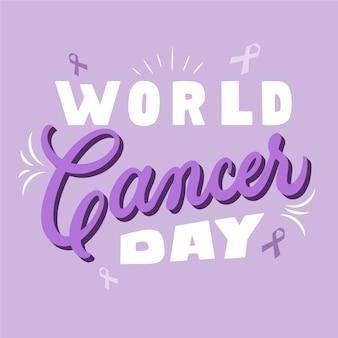 Płaski napis dnia raka