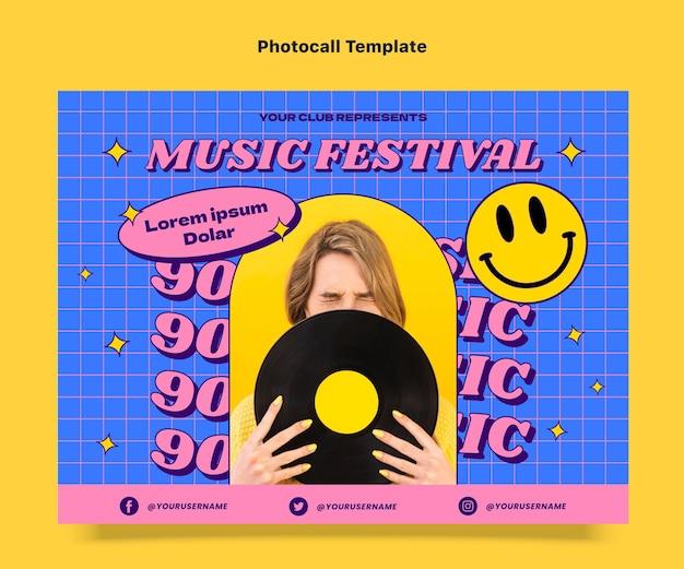 Płaski nostalgiczny festiwal muzyczny z lat 90.