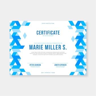 Płaski nowoczesny certyfikat