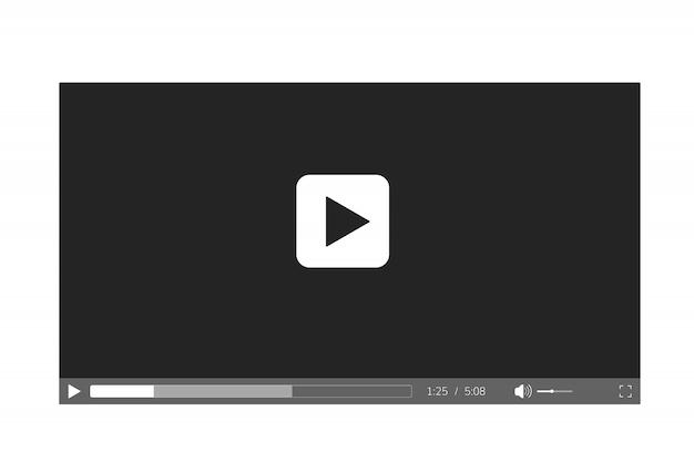 Płaski odtwarzacz wideo szablon
