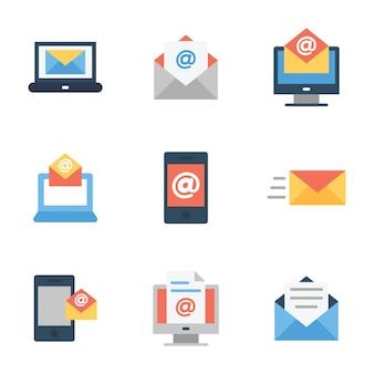 Płaski pakiet e-maili biznesowych