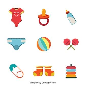 Płaski pakiet elementów dziecka