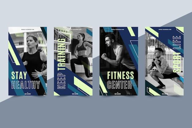Płaski Pakiet Historii Fitness Darmowych Wektorów