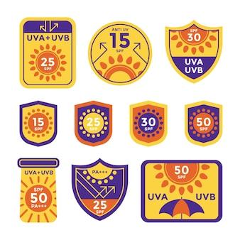 Płaski pakiet odznak uv