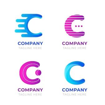 Płaski pakiet szablonów logo c
