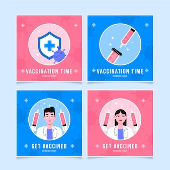 Płaski pakiet szczepionek na instagramie