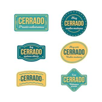 Płaski pakiet szyldów cerrado