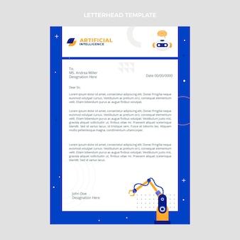 Płaski papier firmowy o minimalnej technologii