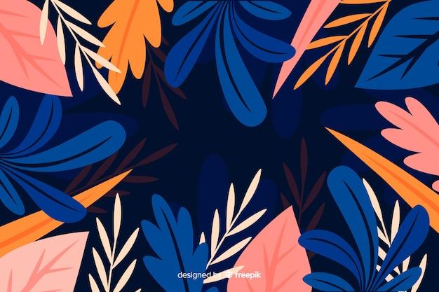 Płaski piękny botaniczny tło styl