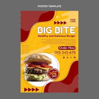 Płaski plakat fast food