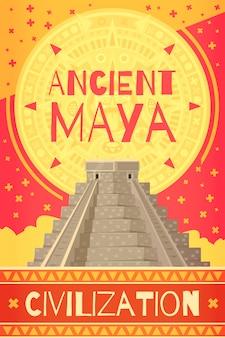 Płaski plakat majów