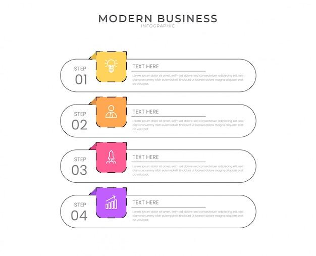 Płaski plansza projekt schemat organizacyjny proces szablon z edytowalny tekst.