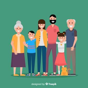 Płaski portret rodziny