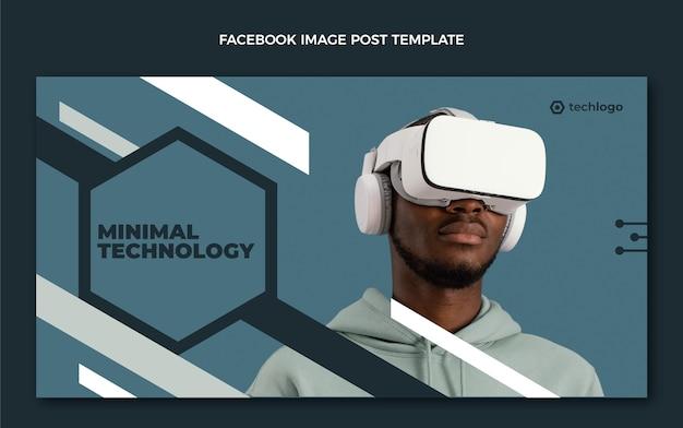 Płaski post na facebooku o minimalnej technologii