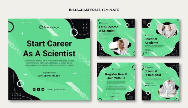 Płaski post na instagramie naukowym