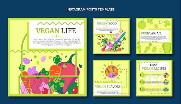 Płaski post na instagramie z jedzeniem