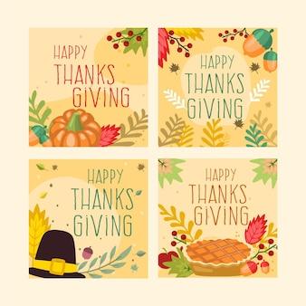 Płaski post na instagramie z okazji święta dziękczynienia