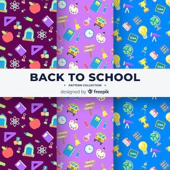 Płaski powrót do kolekcji wzorów szkolnych