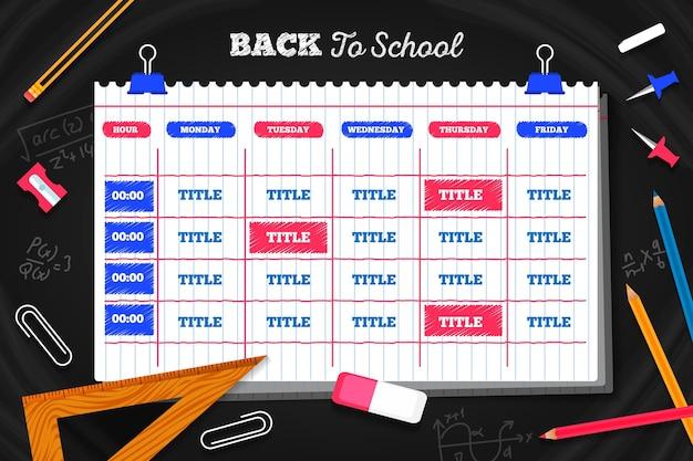 Płaski powrót do planu lekcji