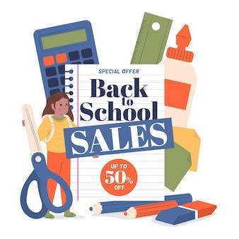 Płaski powrót do sprzedaży szkolnej