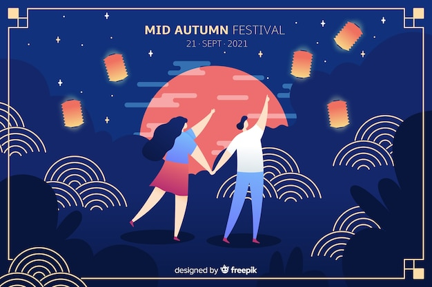 Płaski projekt festiwalu jesień