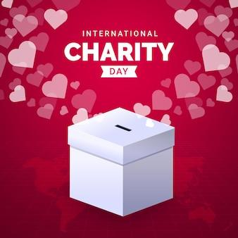 Płaski projekt międzynarodowego dnia miłości
