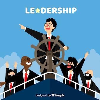 Płaski projekt przywództwa