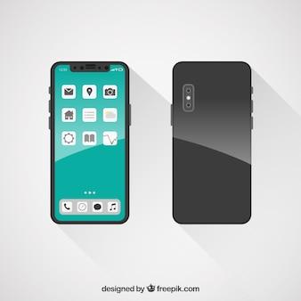 Płaski projekt smartfonu