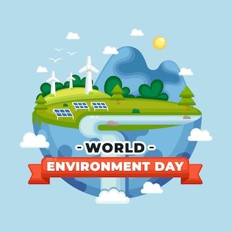 Płaski projekt światowego dnia środowiska