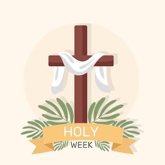Płaski projekt świętego tygodnia