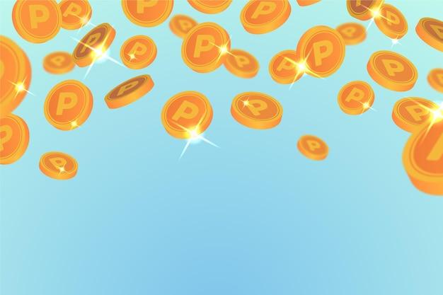 Płaski punkt tło monety