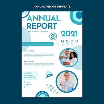 Płaski raport roczny dotyczący nieruchomości geometrycznych