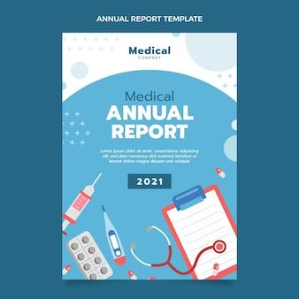 Płaski roczny raport medyczny