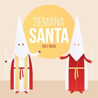 Płaski semana santa koncepcja