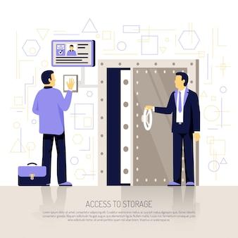 Płaski skład technologii identyfikacji
