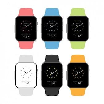 Płaski smartwatchset