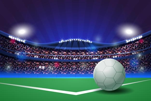 Płaski stadion piłkarski ilustracja