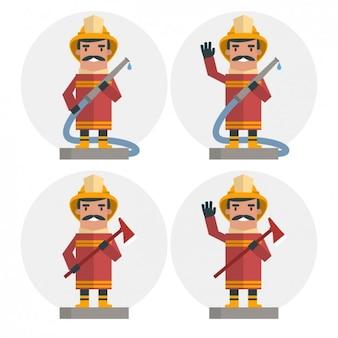 Płaski strażak set