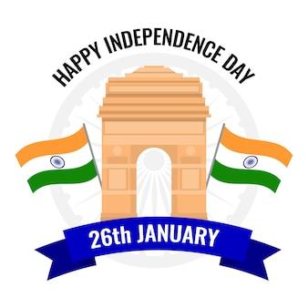 Płaski styl dnia republiki indii
