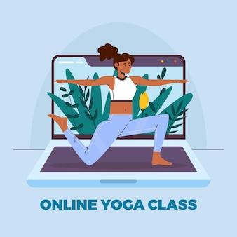 Płaski styl online klasy jogi