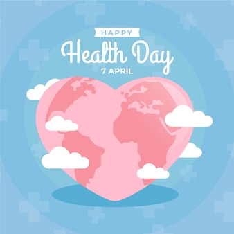 Płaski styl światowy dzień zdrowia styl